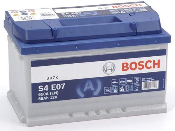 Μπαταρία αυτοκινήτου bosch 65ah με 650 αμπέρ εκκίνησης s4e07