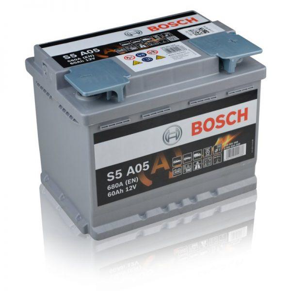 Μπαταρία αυτοκινήτου bosch 60ah με 760 αμπέρ εκκίνησης s5a05