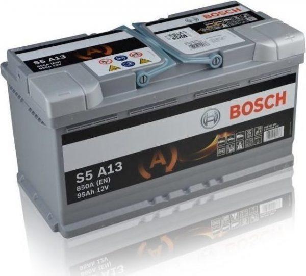 Μπαταρία αυτοκινήτου bosch 95ah με 850 αμπέρ εκκίνησης s5a13