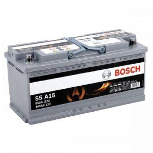 Μπαταρία αυτοκινήτου bosch 105ah με 950 αμπέρ εκκίνησης s5a15