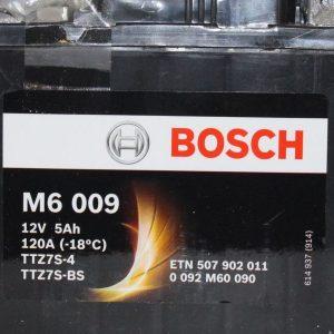 Μπαταρία μοτοσυκλέτας bosch ttz7s-bs M6009 με 120 αμπέρ εκκίνησης