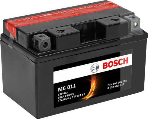 Μπαταρία μοτοσυκλέτας bosch ttz10s-bs M6011 με 150 αμπέρ εκκίνησης