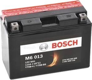 Μπαταρία μοτοσυκλέτας bosch yt9b-bs M6013 με 115 αμπέρ εκκίνησης