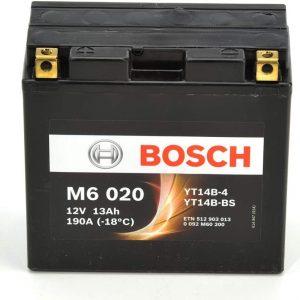 Μπαταρία μοτοσυκλέτας bosch yt14b-bs M6020 με190 αμπέρ εκκίνησης