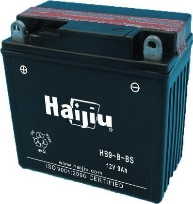 Μπαταρία μοτοσυκλέτας haijiu yb9-b-bs με 130 αμπέρ εκκίνησης