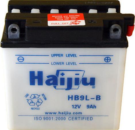 Μπαταρία μοτοσυκλέτας haijiu hb9l-b με 130 αμπέρ εκκίνησης