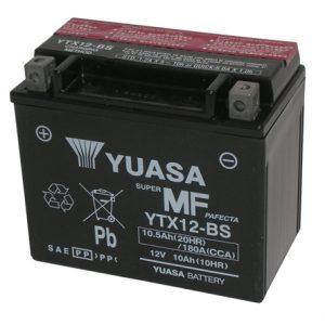 Μπαταρία μοτοσυκλέτας yuasa ytx12-bs με 180 αμπέρ εκκίνησης