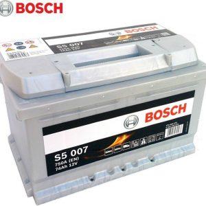 Μπαταρία αυτοκινήτου bosch 74ah με 750 αμπέρ εκκίνησης s5007